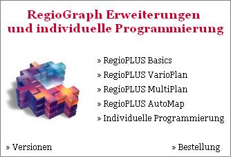 Programmerweiterungen für RegioGraph