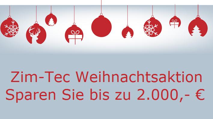 Weihnachtsaktion: Jetzt bis zu 2.000 EURO sparen!